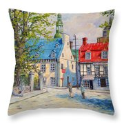 Rue Ste Anne 1965 Throw Pillow