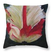 Ruffled Tulip  Throw Pillow