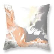 Ruffled Bed Throw Pillow