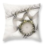 Ruffled Flower Throw Pillow