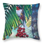 Rufous-throated Solitaire Throw Pillow