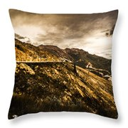 Rugged And Intense Mountain Background Throw Pillow