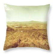 Rugged Bushland View Throw Pillow