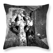 Rugged Cross At Fuerty Cemetery Roscommon Ireland Throw Pillow