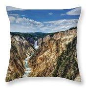 Rugged Lower Yellowstone Throw Pillow