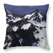 Rugged Mountain Peaks Throw Pillow