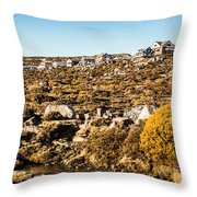 Rugged Mountain Town Throw Pillow