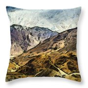 Rugged Mountains Of North India Throw Pillow