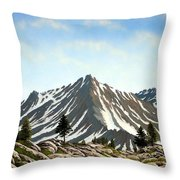 Rugged Peaks Throw Pillow