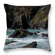Rugged South Coast Throw Pillow