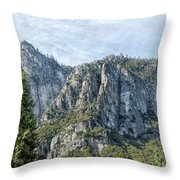 Rugged Valley Walls Throw Pillow