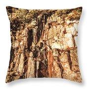 Rugged Vertical Cliff Face Throw Pillow