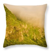 Rugged Volcanic Peaks Of Moorea Throw Pillow