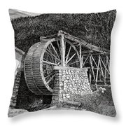 Ruidoso Waterwheel Throw Pillow