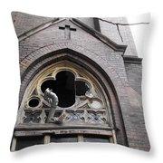 Ruin Courtyard Entrance Throw Pillow