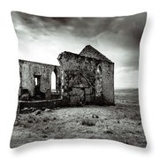Ruin  Of A Church On The Island Of Skye, Scotland Throw Pillow