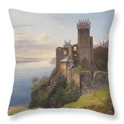 ruin Weitenegg Throw Pillow