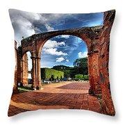 Ruinas En Altagracia Throw Pillow