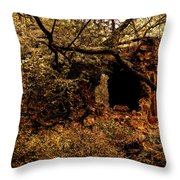 Ruined Temple Throw Pillow
