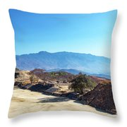 Ruins And Hills Throw Pillow