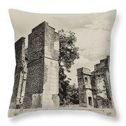 Ruins At Jamestown Throw Pillow
