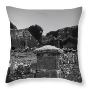 Ruins In The Burren County Clare Ireland Throw Pillow