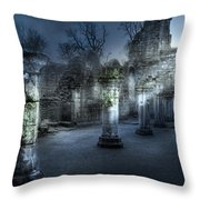 Ruins Of Abbey Throw Pillow