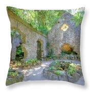 Ruins Of Chapel Sintra Throw Pillow