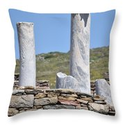 Ruins Of Delos Throw Pillow