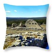 Ruins Of Gran Quivira  Throw Pillow