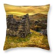 Ruins Of Snowdonia Panorama Throw Pillow