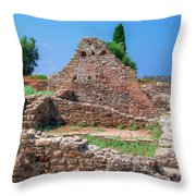 Ruins Of The Ancient City Of Side Throw Pillow