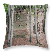Ruins Of The Baroque Chapel Of St. Mary Magdalene Throw Pillow