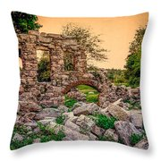 Ruins Of White's Factory - Back To The Front Throw Pillow