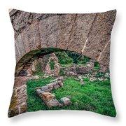 Ruins Of White's Factory - Keystone Throw Pillow