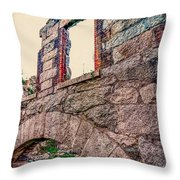 Ruins Of White's Factory - Window Throw Pillow