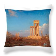 Ruins. Palmyra Throw Pillow