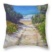 Rules Beach Queensland Australia Throw Pillow