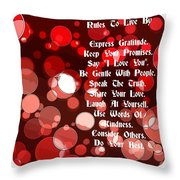 Rules To Live By Throw Pillow
