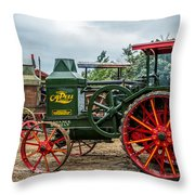 Rumley Oil Pull Tractor Throw Pillow