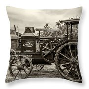 Rumley Oil Pull Vintage Throw Pillow