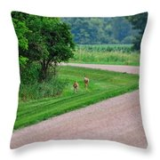 Run Babies Run  Throw Pillow