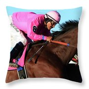 Run For The Roses 1 Throw Pillow