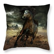 Run Like The Wind Throw Pillow by Shanina Conway