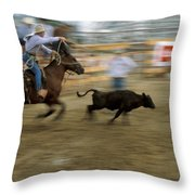 Run Little Doggie Throw Pillow