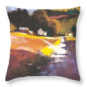 Run-off On The Road Throw Pillow