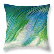 Run To The Sea Throw Pillow