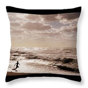 Run, You Are Free Throw Pillow by Riad Belhimer