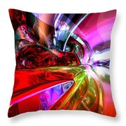 Runaway Color Abstract Throw Pillow by Alexander Butler