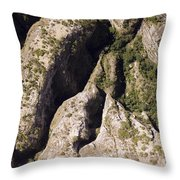 Runiiforme Dissected Sandstone Hills Throw Pillow